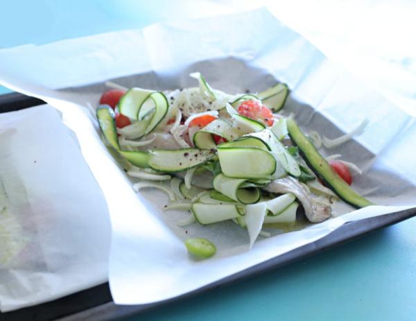 דג דניב בתנור עם ירקות בתוך נייר אפיה_מתכון מושלם וקל_צילום ומתכון: טליה הדר אשת סטייל