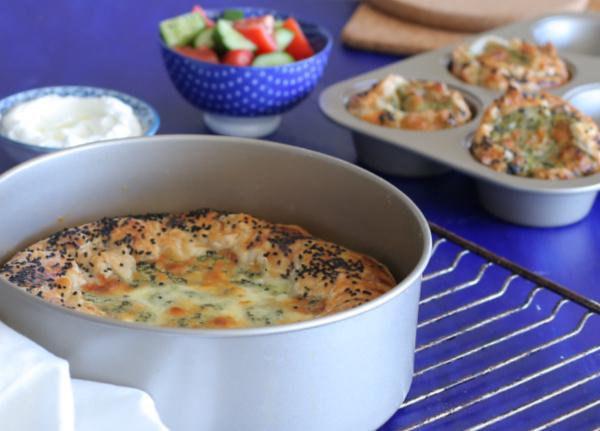 מאפה פילאס של תרד גבינות ופטריות_על כל שלבי ההכנה_צילום ומתכון טליה הדר אשת סטייל