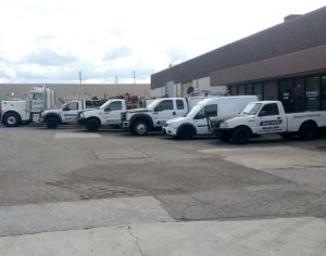 some of our mobile fleet service vehicles