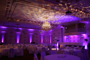 Davenport Grand Pennington Wedding Lighting purple