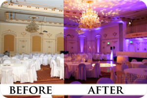 Wedding Lighting Spokane Before and After