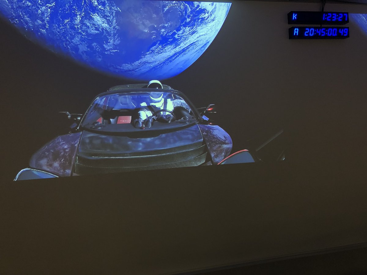 A Tesla LiV's In Space