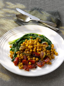 Roasted Chick Peas and Tomatoes