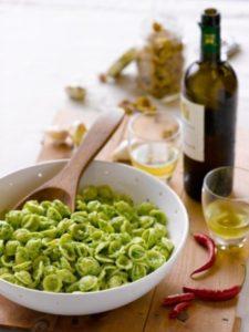 Orecchiette with Broccoli and Walnut Pesto