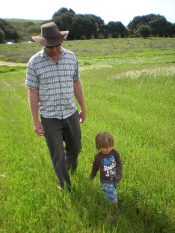 Chris Cadwell and grandson