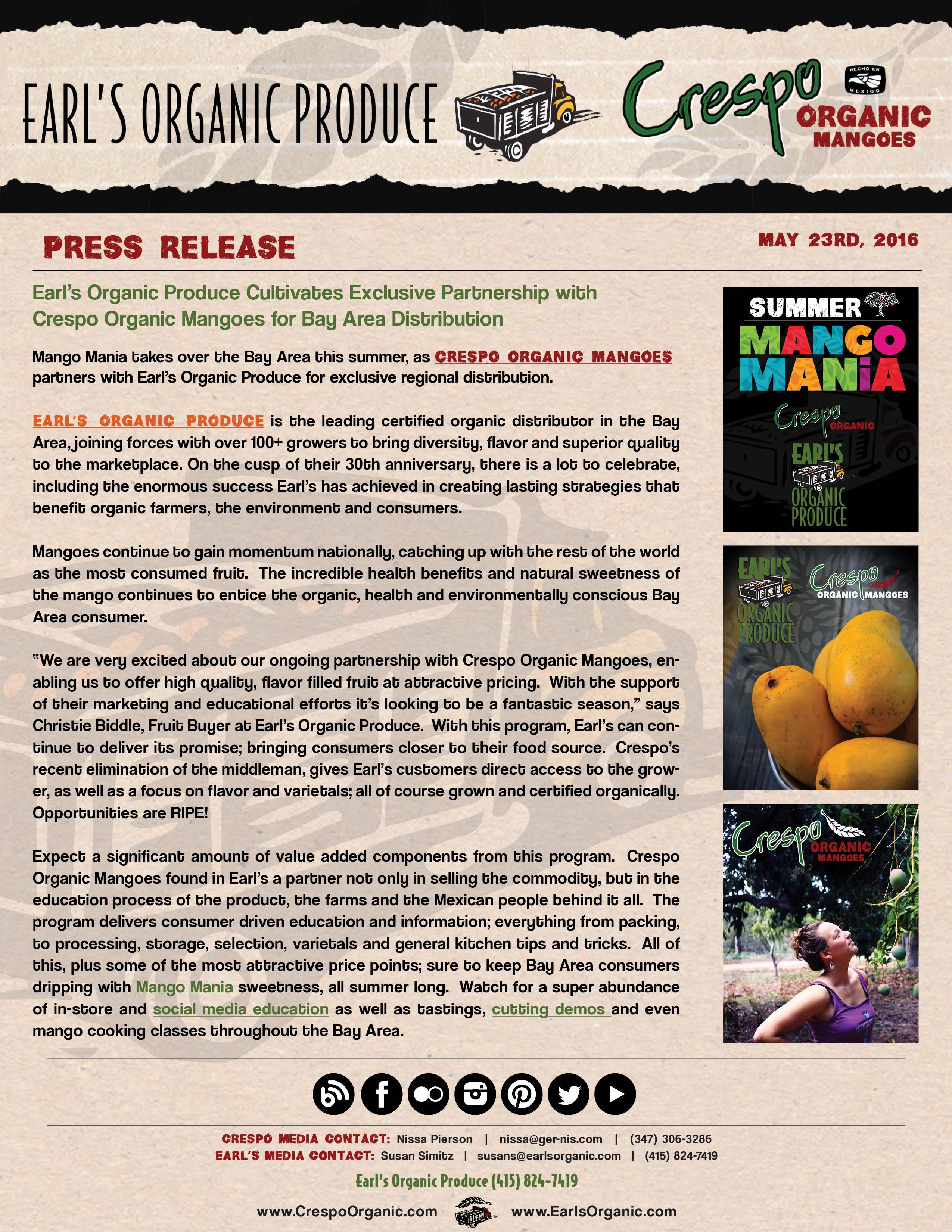Earl's Organic Produce & Crespo Organic Mangoes