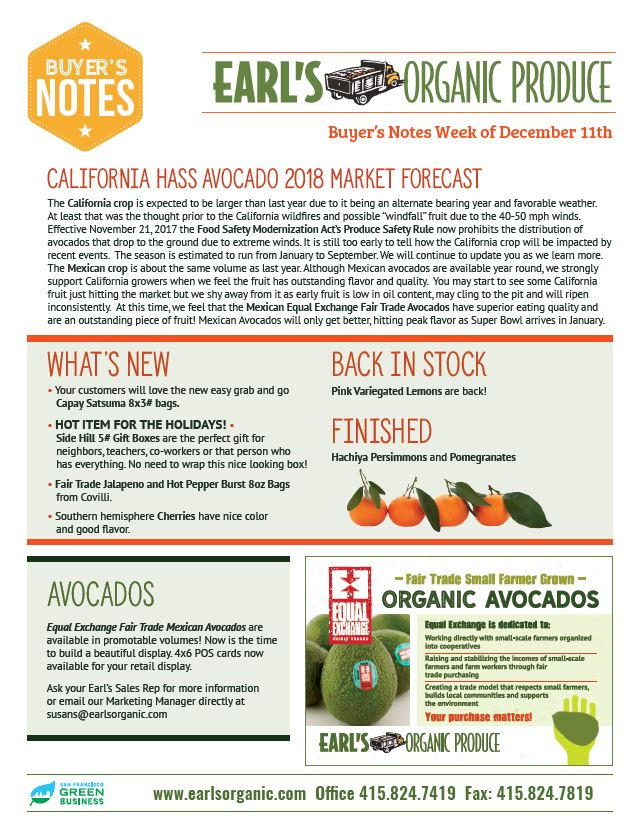 Buyer's Notes December 11 Page 1