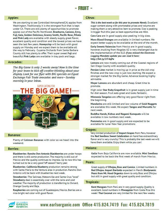 Buyer's Notes January 15th Page 2