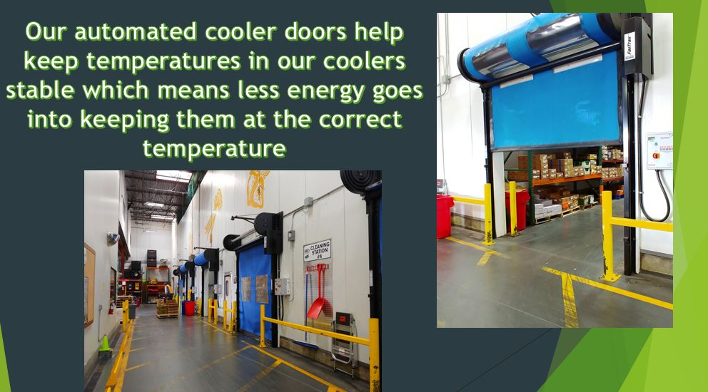 Automated cooler doors