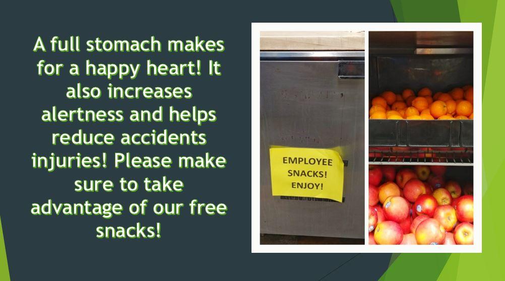 Employee snacks