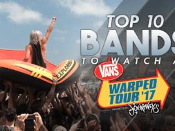 top 10 bands vans warped tour 2017