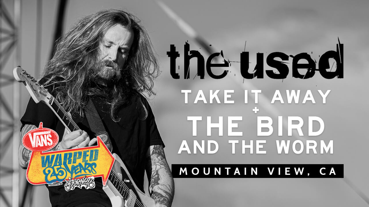"""LIVE: WATCH THE USED PERFORM """"TAKE IT AWAY"""" + """"THE BIRD AND THE WORM"""" (WARPED 25TH ANNIVERSARY)"""