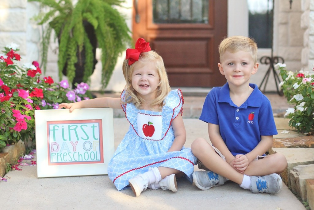 Kids First Day of School