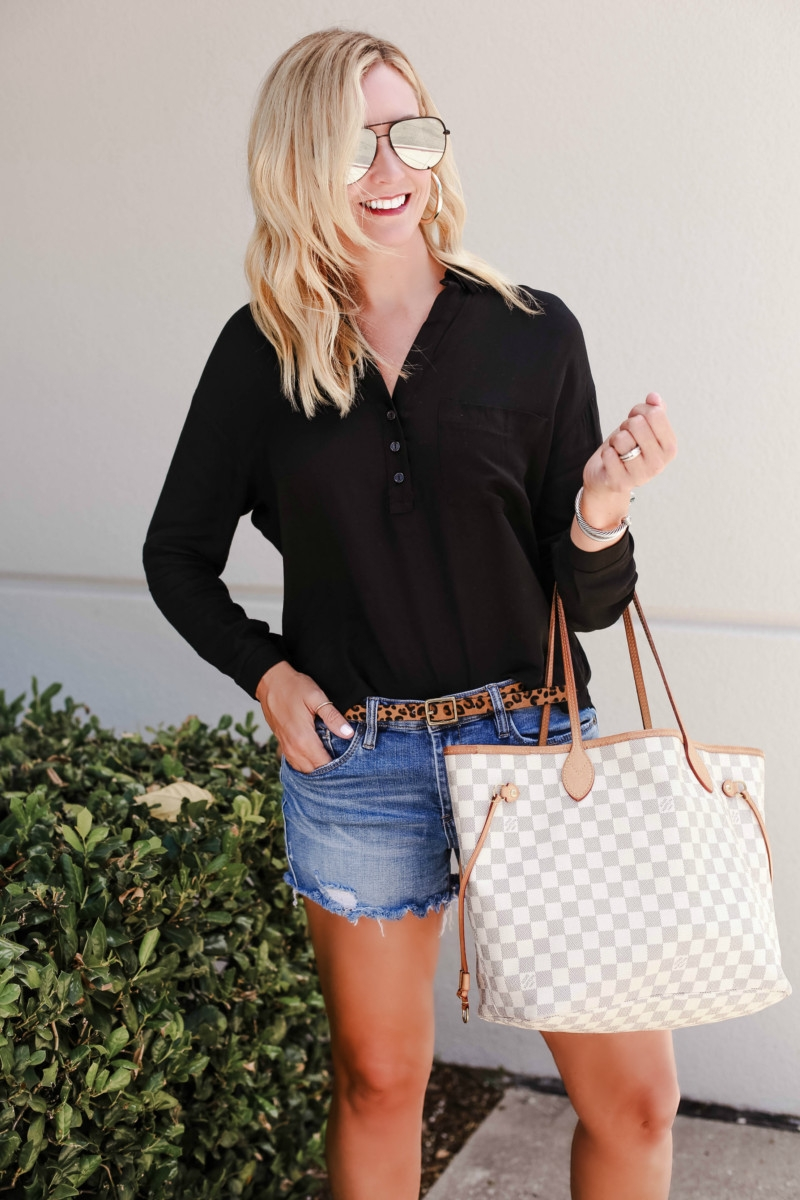 summer to fall transition outfit - Your Favorite Podcasts By Genre and Favorite Summer to Fall transitional outfits featured by popular Houston life and style blogger, Haute & Humid
