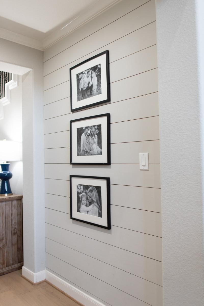 DIY shiplap wall | Holiday Home Tour: Festive Christmas Home Decor featured by top Houston life and style blog Haute & Humid