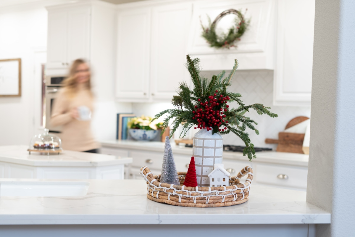 christmas tray | Holiday Home Tour: Festive Christmas Home Decor featured by top Houston life and style blog Haute & Humid