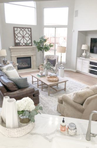 Styled For The Season Spring Home Tour- Neutral Home Decor Remodel