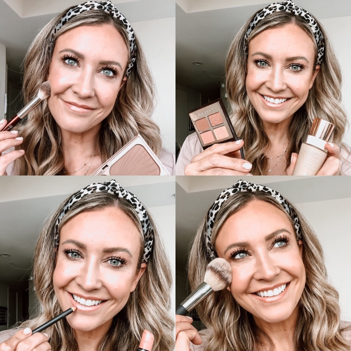nude lipstick | Nordstrom Makeup by popular Houston beauty blog, Haute and Humid: collage image of a woman applying different Nordstrom makeup products.