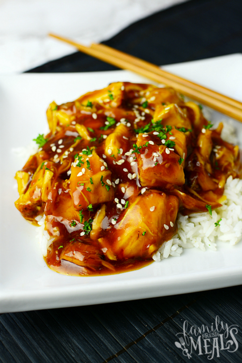 quarantine recipes | Stuck at Home Recipes by popular Houston lifestyle blog, Haute and Humid: image of Instant Pot honey chicken.
