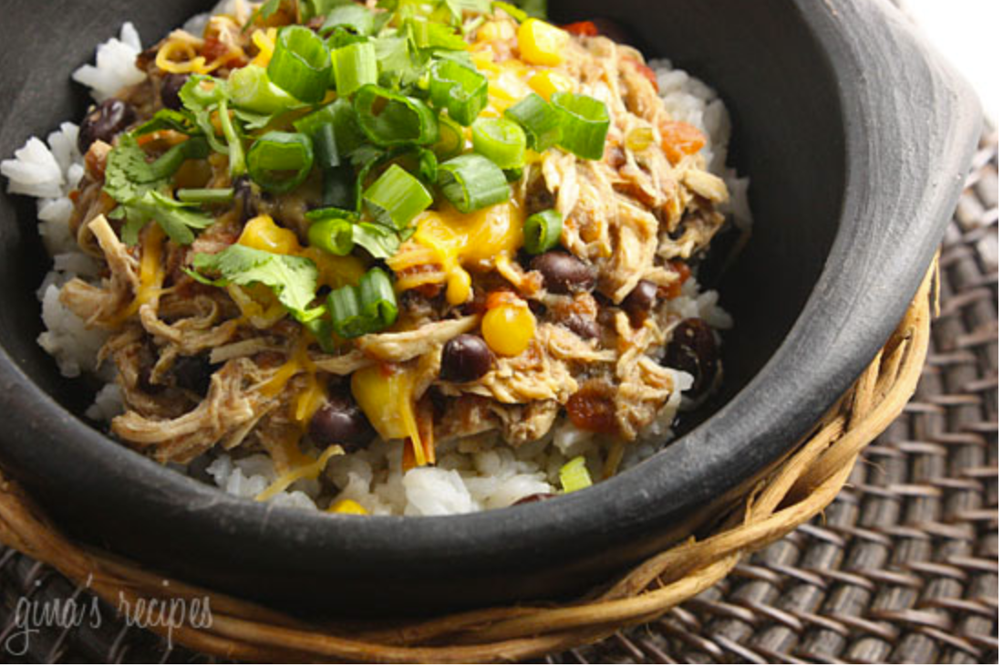 quarantine recipes | Stuck at Home Recipes by popular Houston lifestyle blog, Haute and Humid: image of crock pot Santa Fe chicken.