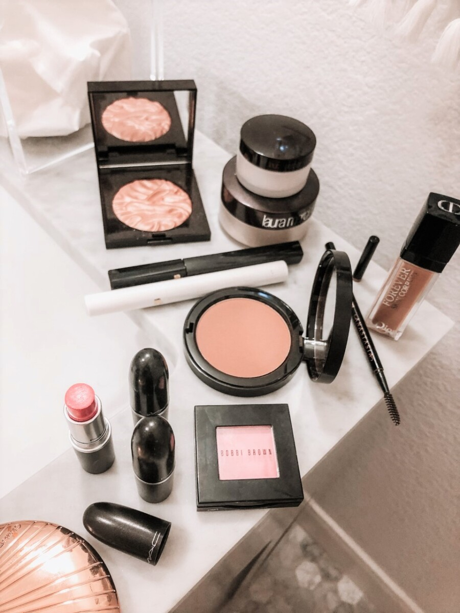 Nordstrom Beauty Best Sellers | Nordstrom Beauty by popular Houston beauty blog, Haute and Humid: image of Bobbi Brown blush, Laura Mercier powder, and MAC lipstick.