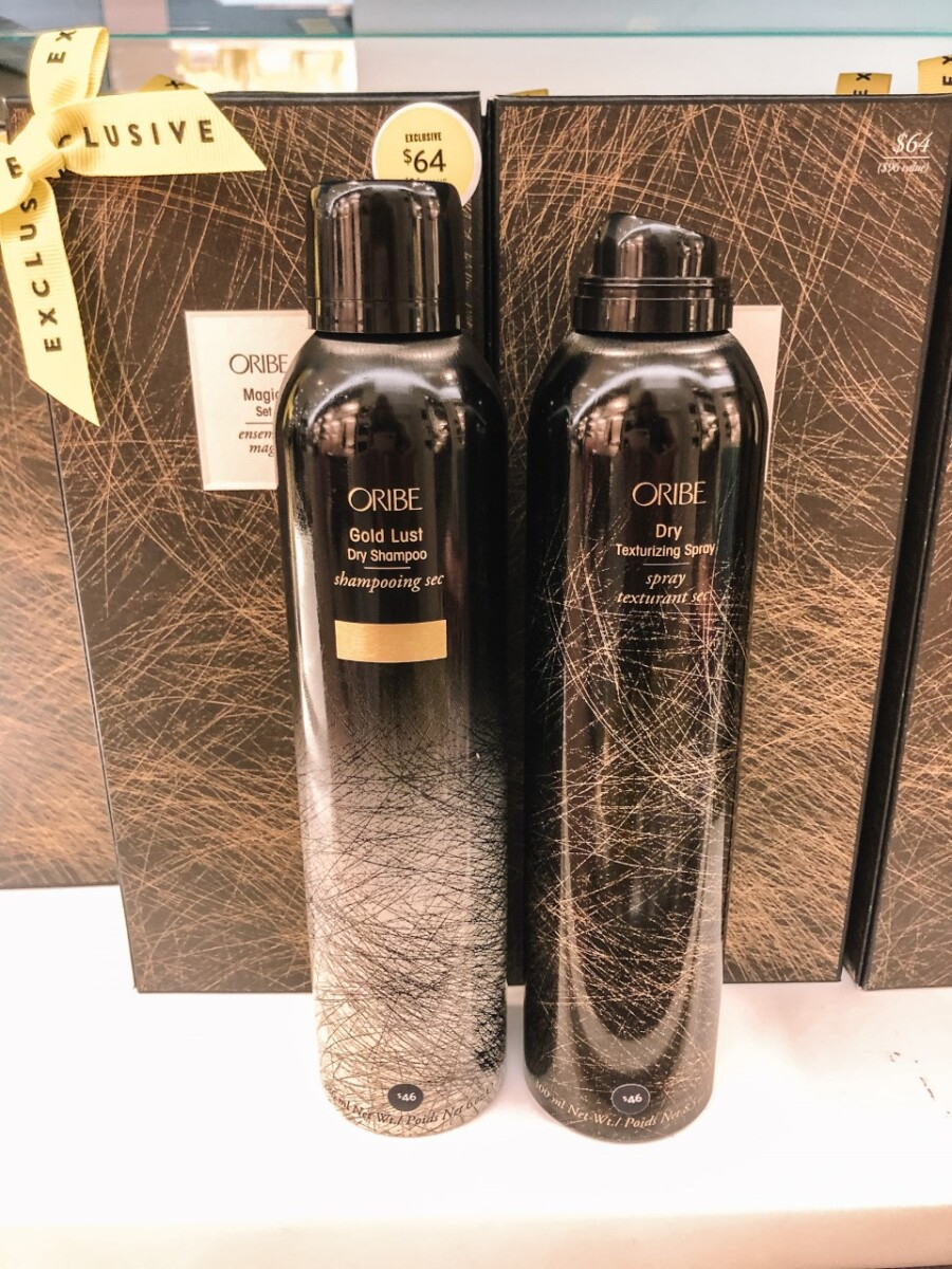 oribe  | Nordstrom Anniversary Sale by popular Houston beauty blog, Haute and Humid: image of Oribe dry shampoo and Oribe dry texturizing spray.