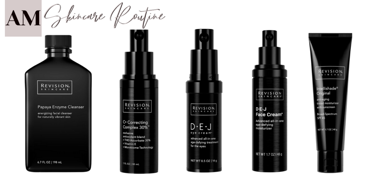 anti aging skincare routine |Anti Aging Skincare by popular Houston beauty blog, Haute and Humid: image of Revision skincare products.