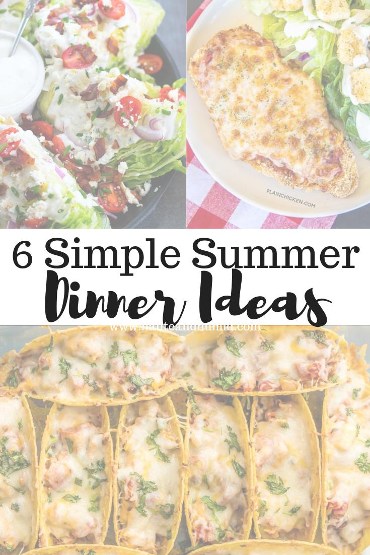simple summer dinner ideas