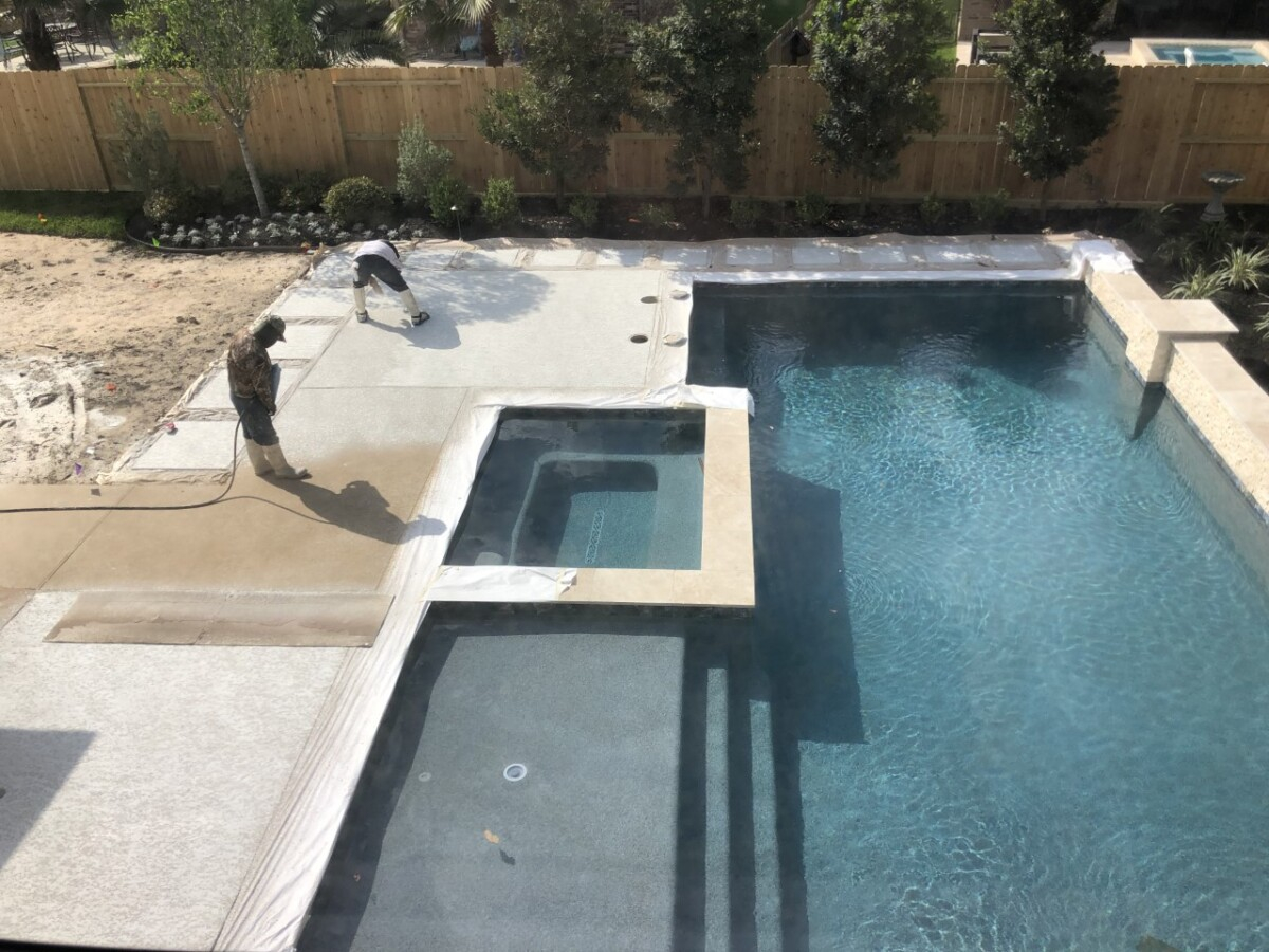 pool dig   pool before and after   Outdoor Kitchen by popular Houston life and style blog, Haute and Humid: image of a pool getting filled with water.