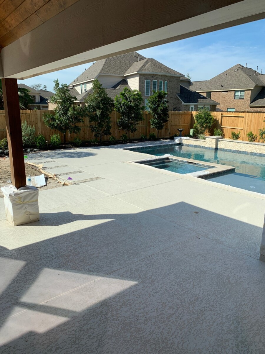 pool deck  pool dig   pool before and after   Outdoor Kitchen by popular Houston life and style blog, Haute and Humid: image of a pool deck.