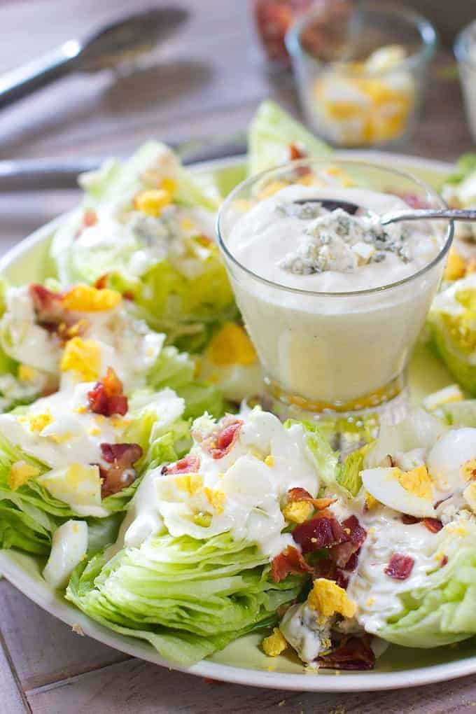 wedge salad | Summer Side Dishes by popular Houston lifestyle blog, Haute and Humid: image of a wedge salad platter.