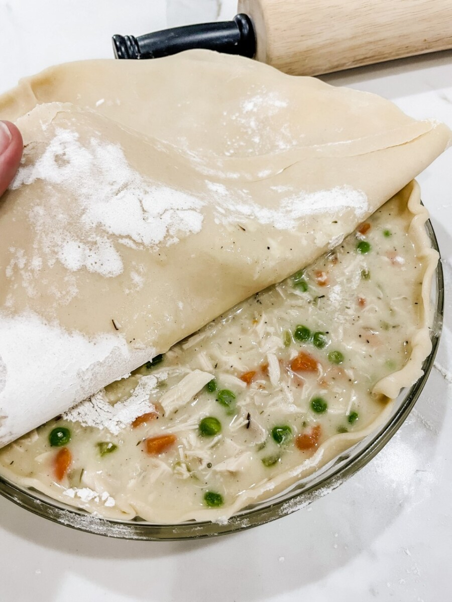 weekly meal plan | Meal Planning Tips by popular Houston lifestyle blog, Haute and Humid: image of chicken pot pie.