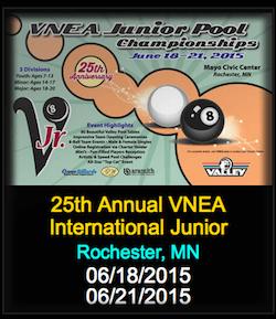 VNEA Celebrates 25th Anniversary World Junior Pool Championships