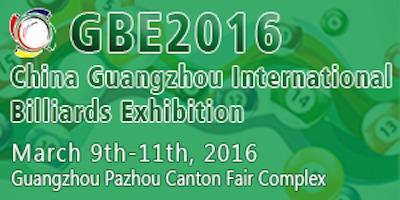 GBE-China Guangzhou International Billiards Exhibition, March 9-11