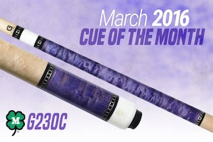 McDermott's Free Pool Cue Giveaway for March 2016