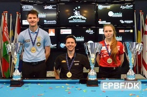 Dynamic European 8-ball titles to Tkach, Larsson and Patsura