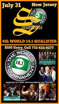 Pool's World 14.1 Qualifier July 31