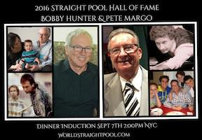"""""""Cue Ball"""" Kelly Joins Hunter & Margo in Straight Pool Hall of Fame"""
