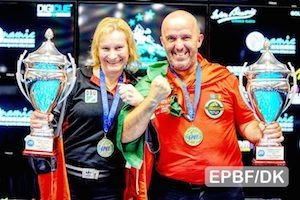 Dynamic Euro 8-ball titles: Wessel and Correia