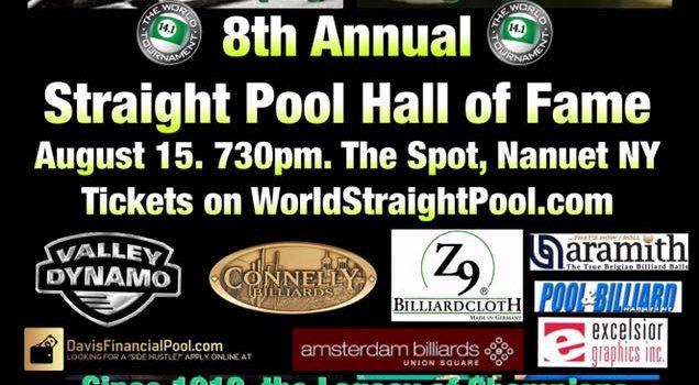 Cisero Murphy & George SanSouci 2018 Straight Pool Hall of Fame August 15