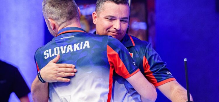 SLOVAKIA STUN AUSTRIA TO KNOCK DEFENDING CHAMPS OUT OF WORLD CUP OF POOL