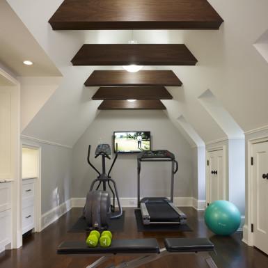 chicago renovated attic home gym