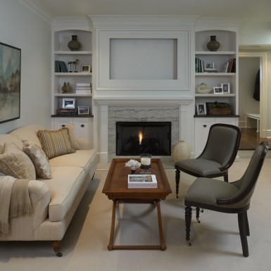 chicago living room with fireplace