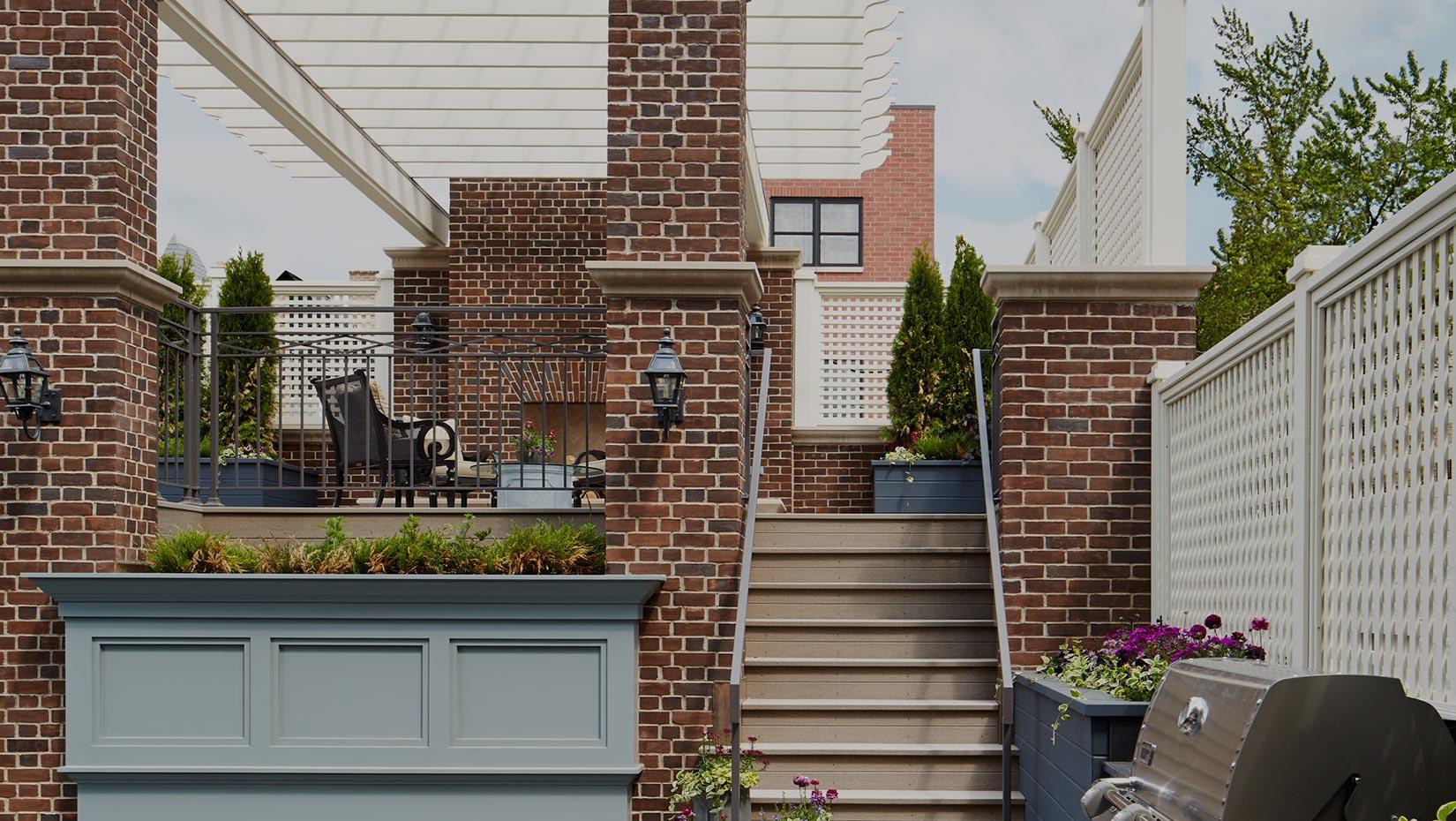 chicago raised brick patio from landscape architect