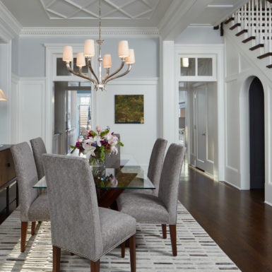 chicago luxury home dining room custom moulding