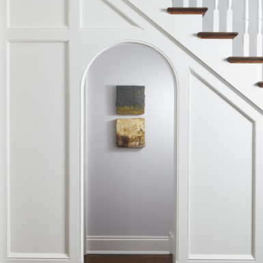 chicago custom home arched doorway