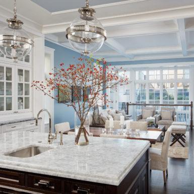 chicago open floor plan luxury home white windows cased ceiling