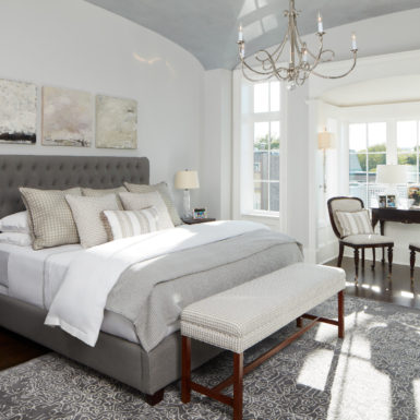 chicago custom home master bedroom with sitting area