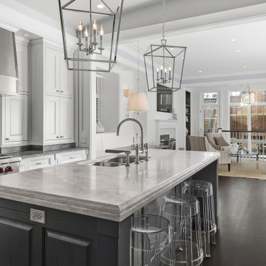 lake view chicago open concept kitchen living room