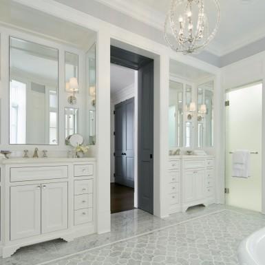 lake view chicago custom bathroom dual showers